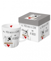 Mok All You need is LOVE and a DOG, mok met hond, PPD Mok